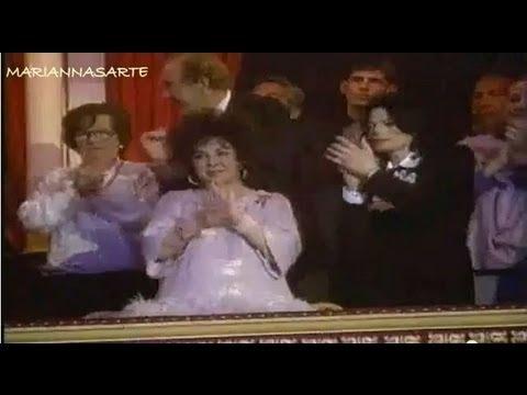 Michael Jackson, Andrea Bocelli And Elizabeth Taylor At Musical Celebration 2000
