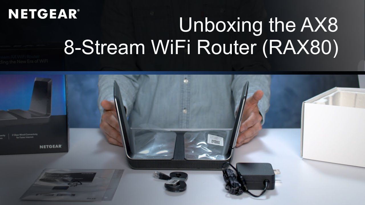 Unboxing the NETGEAR Nighthawk AX8 8-Stream Wi-Fi 6 Router   RAX80
