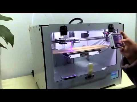 BIBO 3D printer with laser engraving
