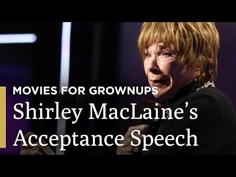Shirley MacLaine's Acceptance Speech | AARP The Magazine's Movies For Grownups® | Great Performances