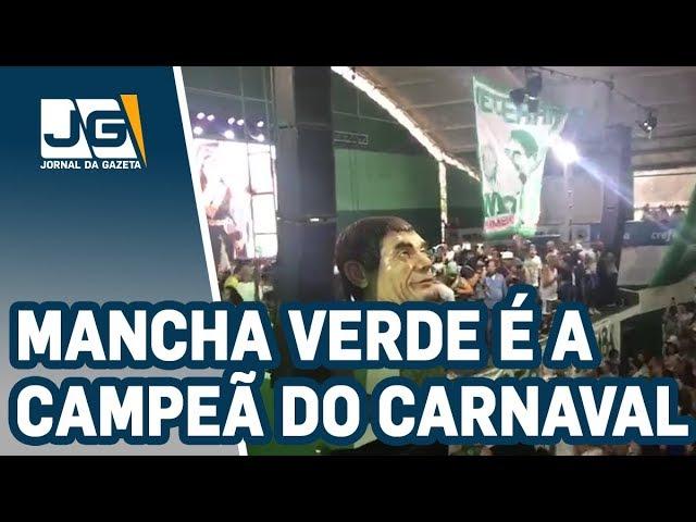 Mancha Verde é a campeã do Carnaval paulista