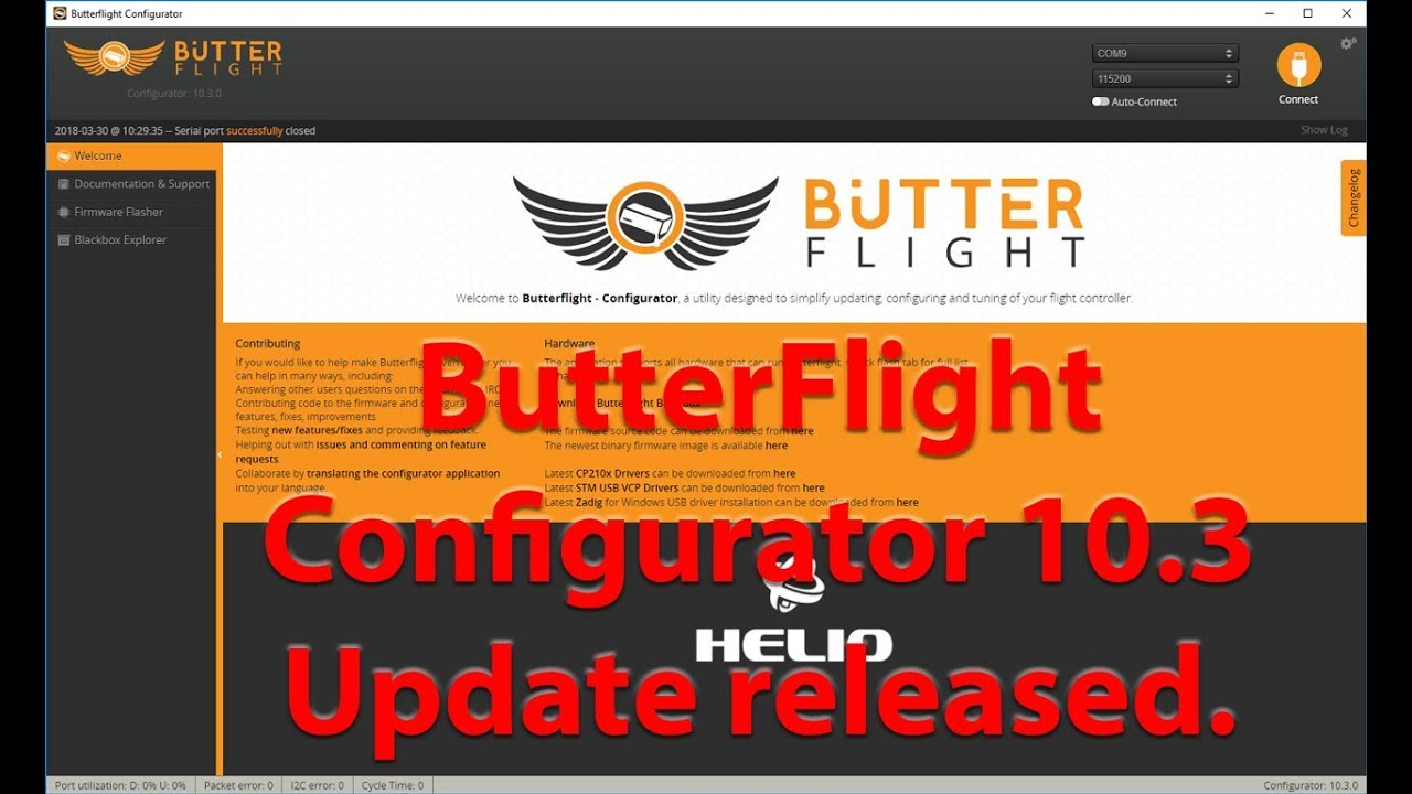ButterFlight Configurator 10 3 Released! Whats changed?