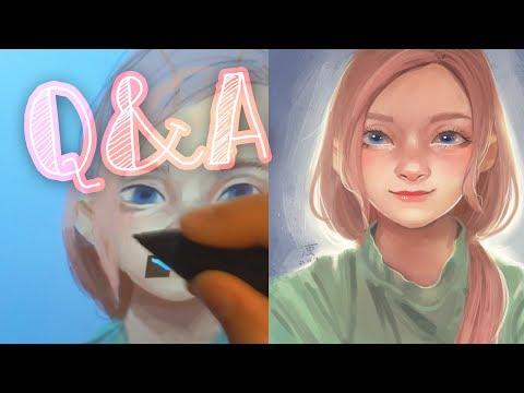 Смотреть Q&A Отвечаю на вопросы~ рисование мышкой, обводки, графический планшет онлайн