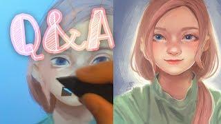 Q&A Отвечаю на вопросы~ рисование мышкой, обводки, графический планшет