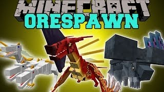 Minecraft: ORESPAWN MOD UPDATE (BOSSES, WEAPONS, PETS, & DUNGEONS) Mod Showcase
