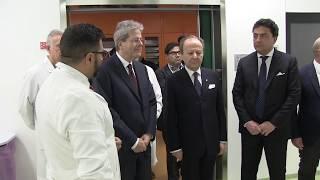 Visita di Gentiloni al nuovo blocco operatorio dell'ospedale San Carlo di Nancy (02/03/2018)