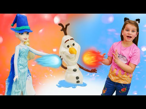 Холодное сердце - Принцесса Эльза всех замораживает! – Видео игры для девочек.