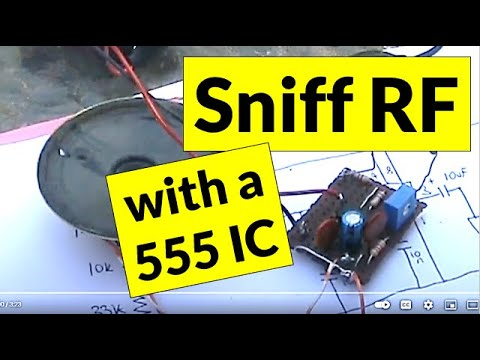 Audible RF sniffer using a 555 timer IC