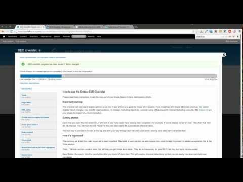 Drupal 7 SEO Checklist Module - Daily Dose of Drupal Episode 51