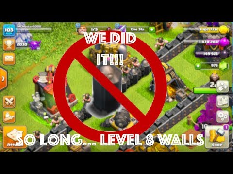 We Did It!!! All Level 9 Walls In Clash Of Clans!