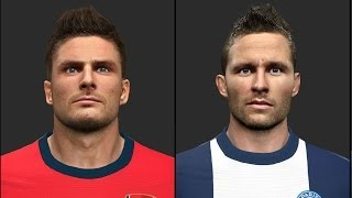 PES 2014 • Ozil Giroud Cabaye Matuidi Osvaldo KPBoateng Faces | Download • HD Thumbnail