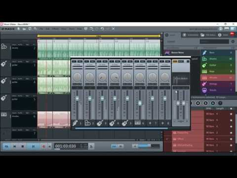Making Music With Magix Music Maker Free 2017 Youtube