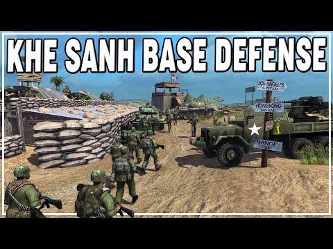 DEFENDING KHE SANH Firebase against OVERWHELMING NVA Attack! | MoWAS 2 Vietnam Mod Gameplay |