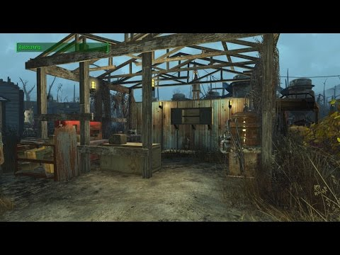 Fallout 4 - Murkwater Construction Site Fully Setup...