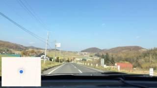 【ドライブ前面展望】道道985号線 山部→北の峰