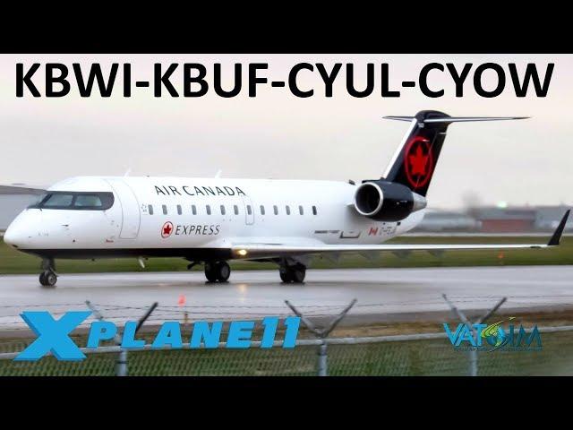 X-Plane 11   Canada EH!?!   B737 A320 Crj200   VATSIM
