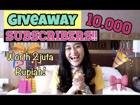 GIVEAWAY 10.000 SUBSCRIBERS | Clarin Hayes