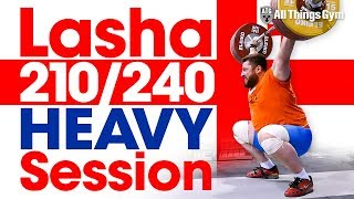 Lasha Talakhadze 210kg Snatch / 240kg C&J Session 2017 World Weightlifting Championships!