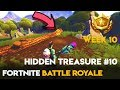 Week #10 Battle Pass 🌟 Search Between a Stone Circle, Wooden Bridge & Red RV| Fortnite Battle Royale