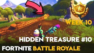 Semaine #10 Battle Pass 🌟 Search Between a Stone Circle, Wooden Bridge - Red RV Fortnite Bataille Royale