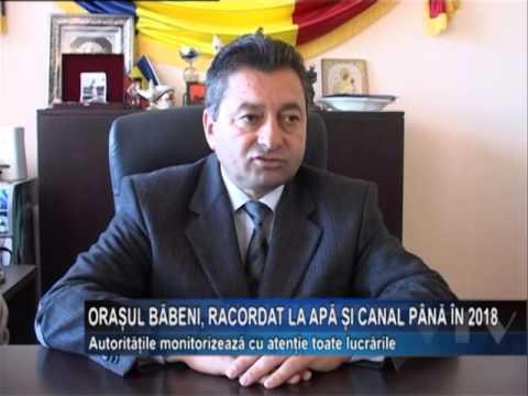 Orasul Babeni racordat la apa si canal pana in 2018