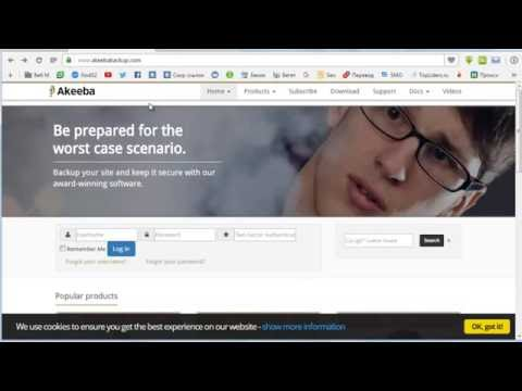Akeeba Backup для Joomla 3, делаем резервную копию