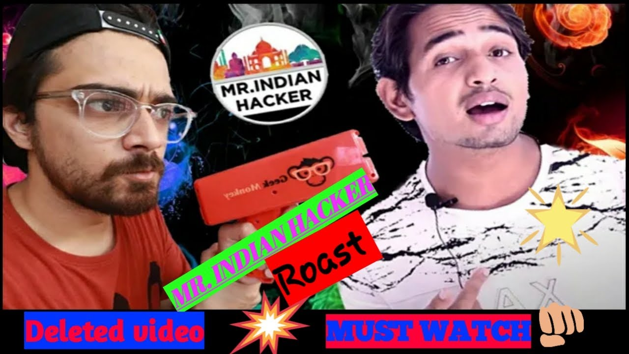 Desi scientist : Mr. indian hacker || oye velle deleted video|| Mr. Indian hacker roasted||roast||