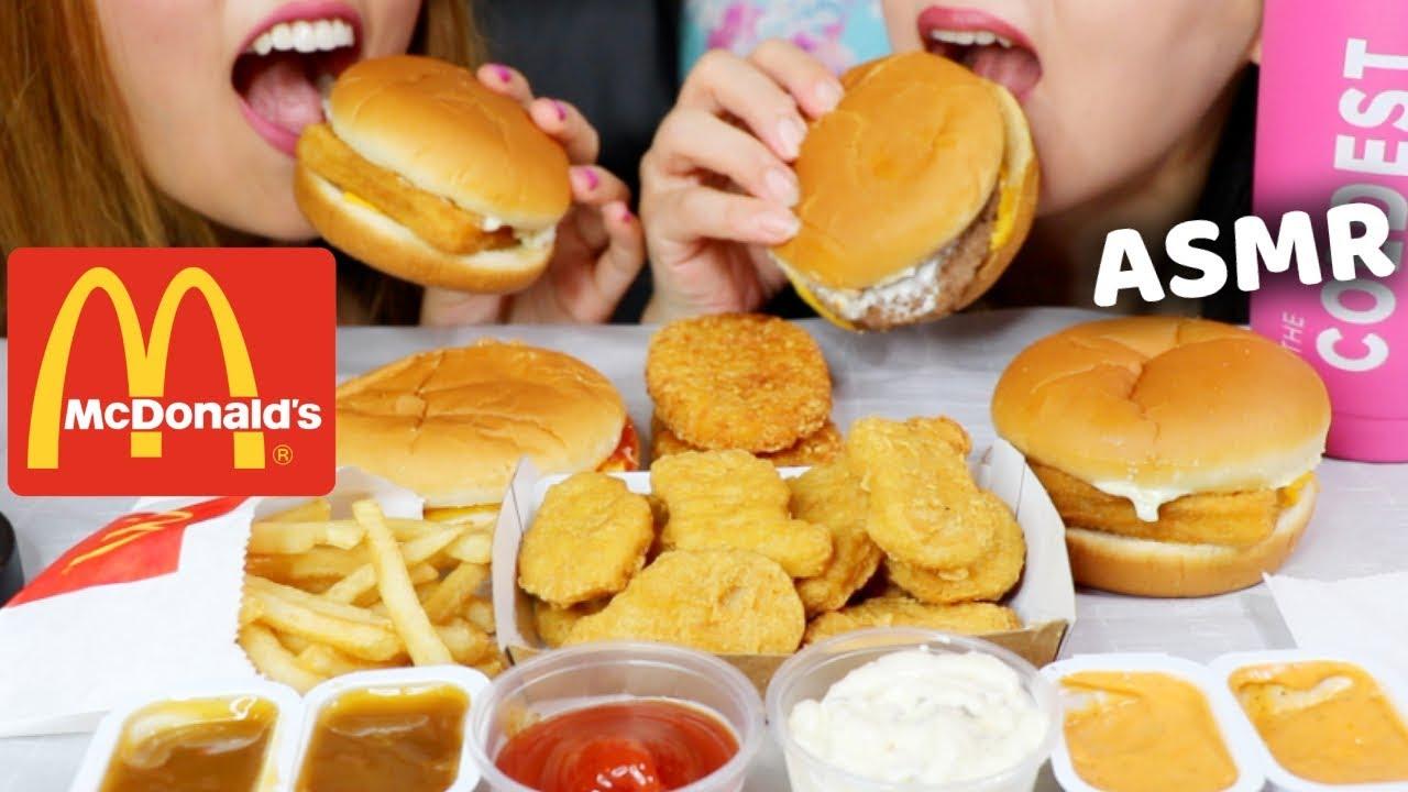Eating Mcdonalds Chicken Mcnuggets Burgers And Fries Asmr Kim Liz Asmr
