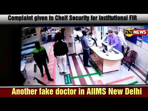 Another fake doctor in AIIMS New Delhi emergency
