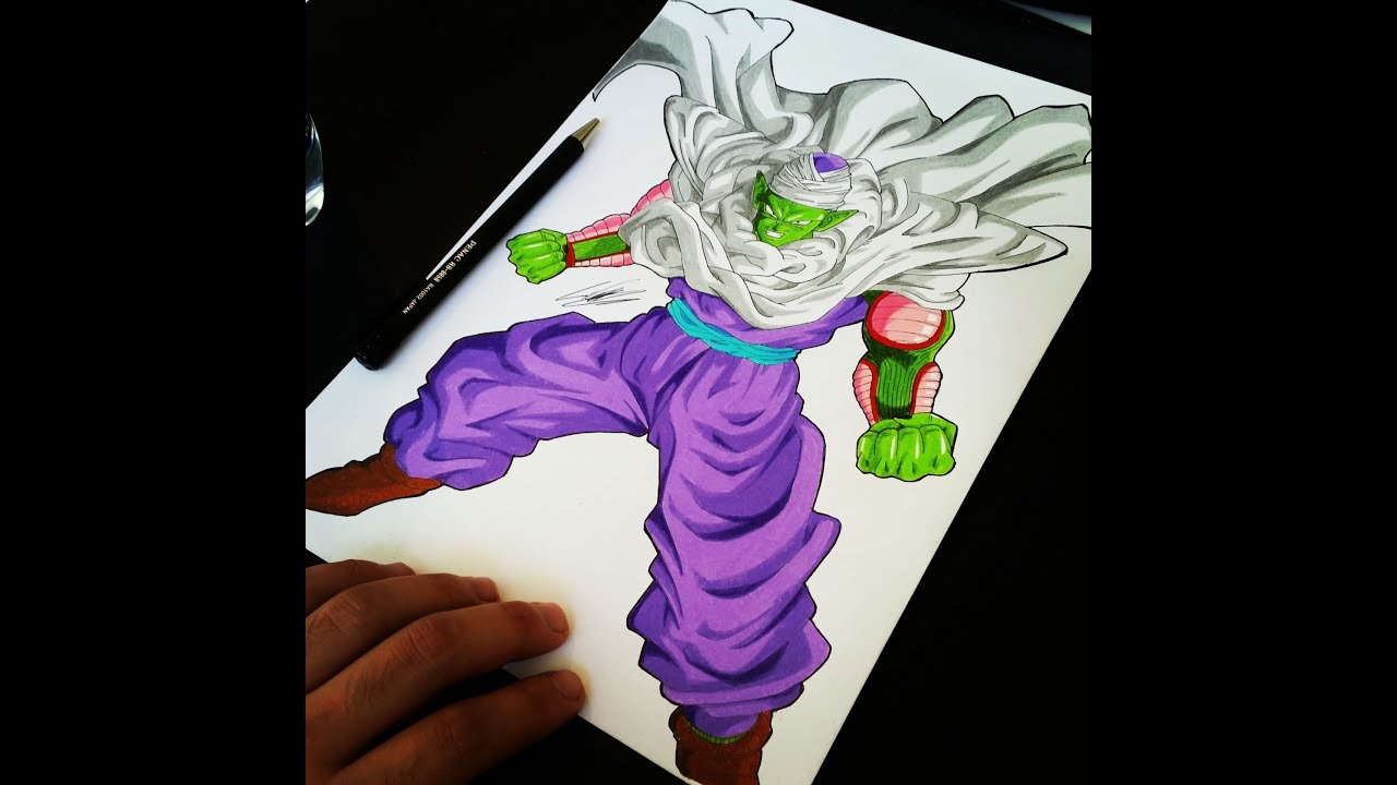 Piccolo from Dragonball Z Speed Coloring by TolgArt