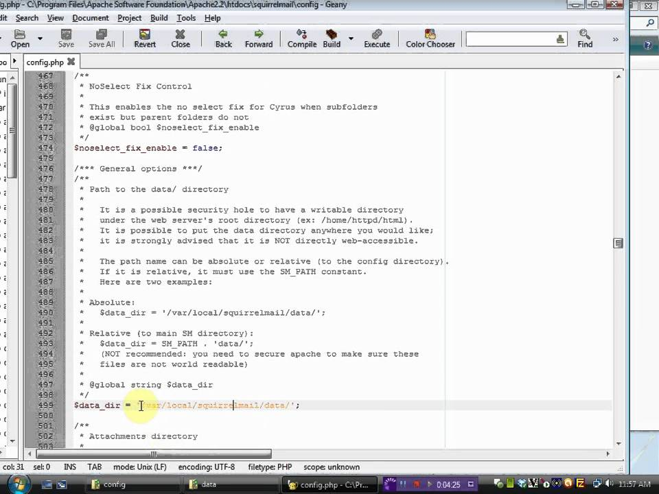 How to configure Squirrelmail with hMail Server