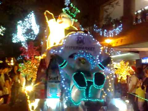 christmas parade floats youtube