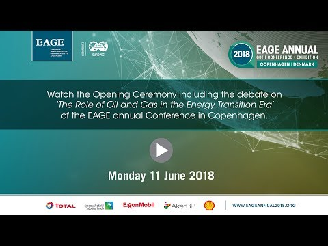 Opening Ceremony including debate at the EAGE Annual in Copenhagen