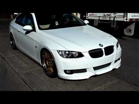 bmw 335i with 20 inch rims Iforged vip gold...modded