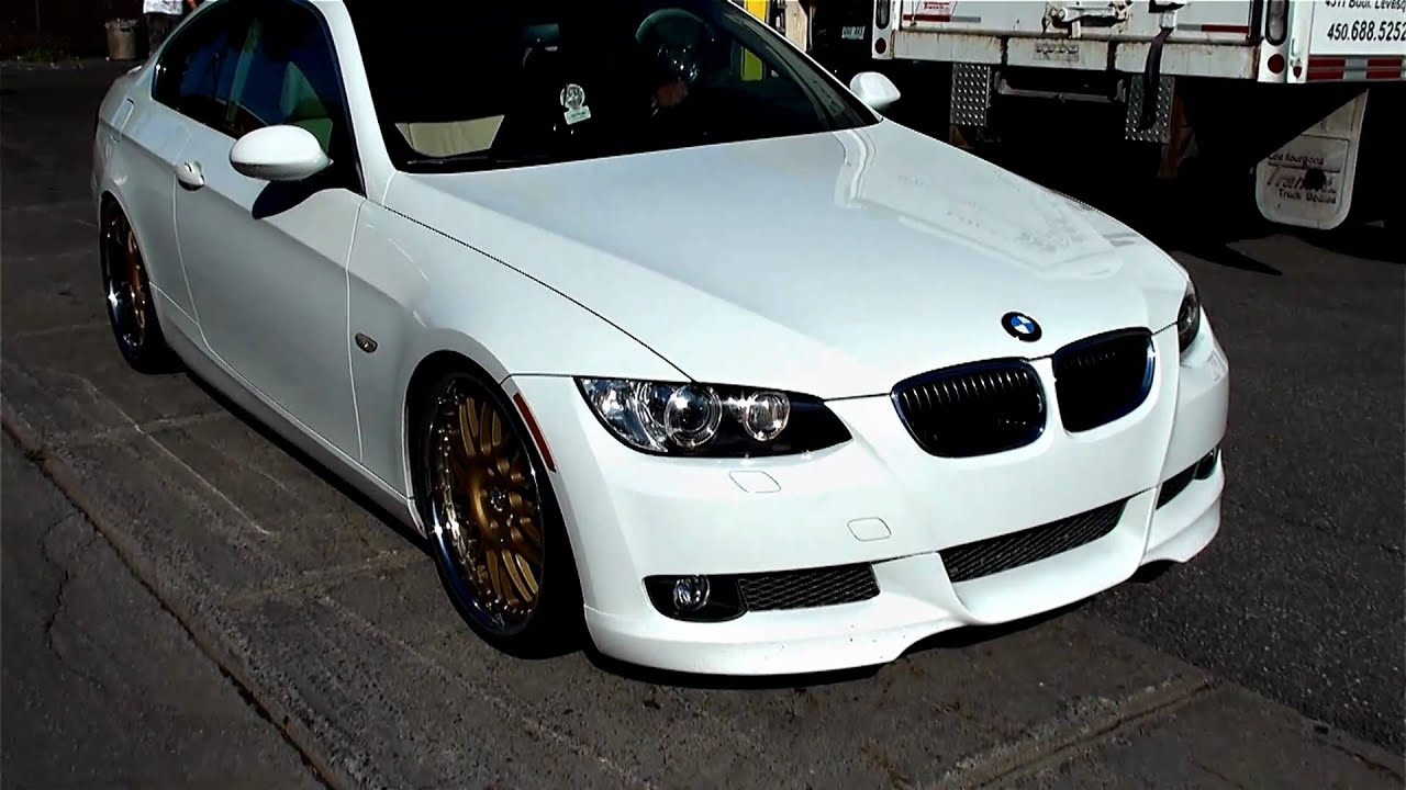 Bmw 335i With 20 Inch Rims Iforged Vip Gold Modded Youtube