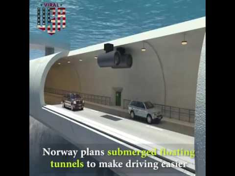 Road tunnel under sea  - Civil Engg must watch