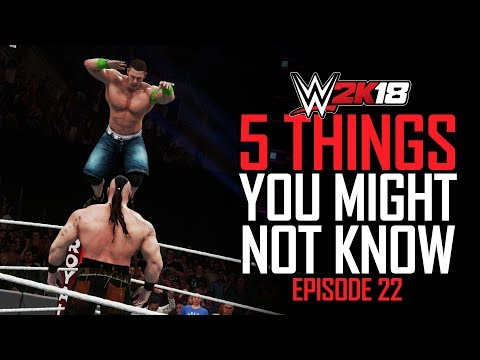 WWE 2K18 - 5 Things You MIGHT Not Know! #22 (Catching Rumble Finishers, Reigns SUPERMAN Bomb & More)