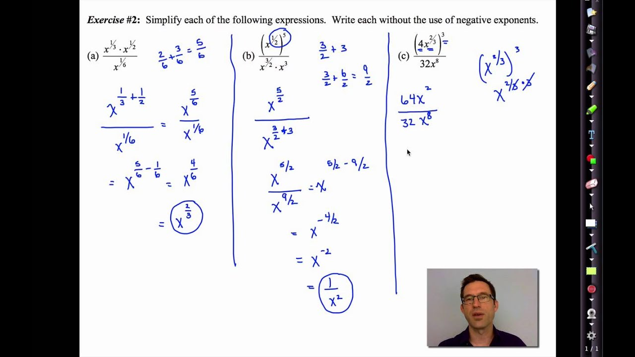 Common Core Algebra II Unit 8 Lesson 5 More Exponent Practice