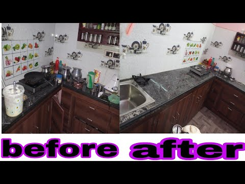 My morning kitchen routine |tension free kitchen cleaning|easy cleaning tips