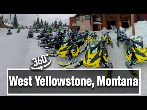 4K City Walks: West Yellowstone, Montana in Winter and 360 VR