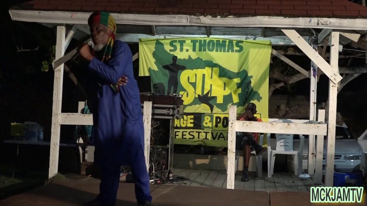Mutabaruka performance in St Thomas at Heritage & Poetry Fest 2019