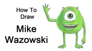 How to Draw Mike Wazowski (Monsters, Inc.)