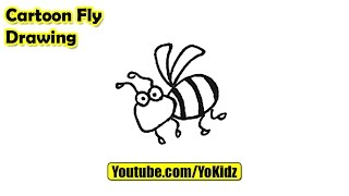 How to draw a cartoon FLY