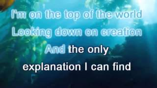 The carpenters top of the world lyrics