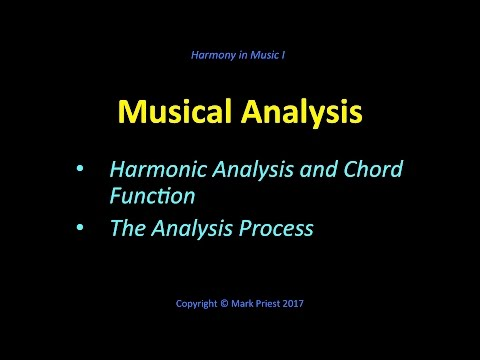 Musical Analysis - Harmony I, No. 15