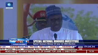 Buhari Honours MKO Abiola,Kingibe,Fawehinmi