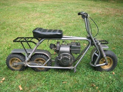 Tandem Rear Wheels Minibike Vintage Style Custom Build Youtube