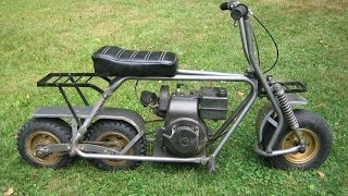 Tandem Rear Wheels Minibike Vintage Style Custom Build