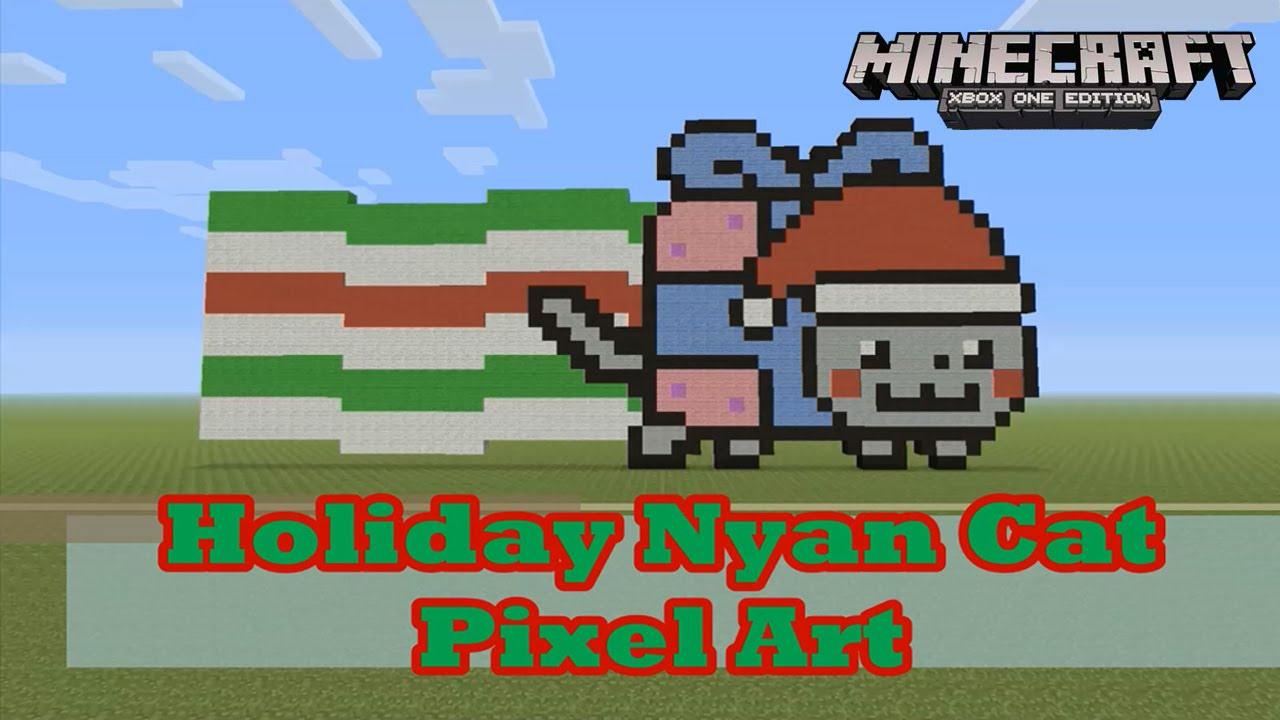 Minecraft: Pixel Art Tutorial And Showcase: Holiday Nyan Cat (Christmas And  Holiday Season)   YouTube