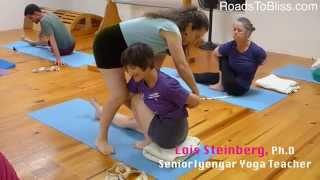 Marichyasana 3 with Lois Steinberg, Ph.D. Certified Iyengar Yoga Teacher Advanced 2